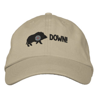 Black Hog Down! Embroidered Hat