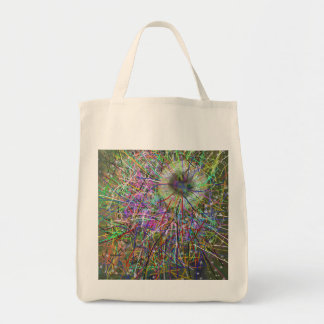 Black Hole Abstract Design Grocery Tote Bag