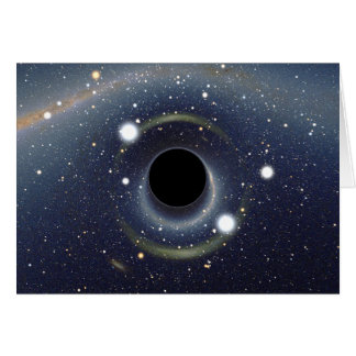 Black Hole Einstein Ring NASA Card