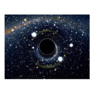 Black Hole Einstein Ring NASA Postcard