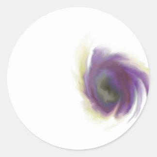 Black Hole Flower Classic Round Sticker