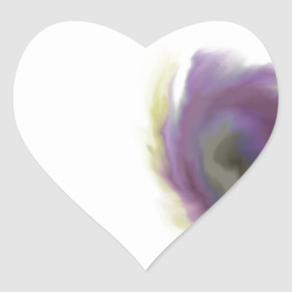 Black Hole Flower Heart Sticker