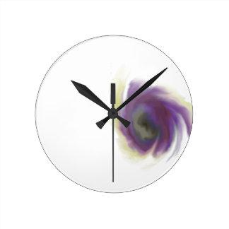 Black Hole Flower Round Clock