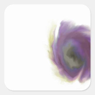 Black Hole Flower Square Sticker