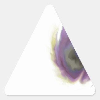 Black Hole Flower Triangle Sticker
