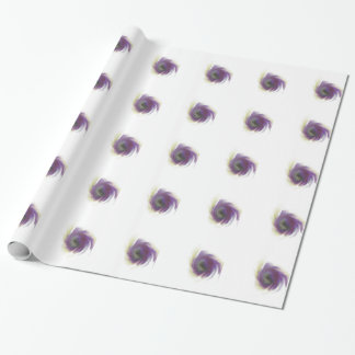 Black Hole Flower Wrapping Paper