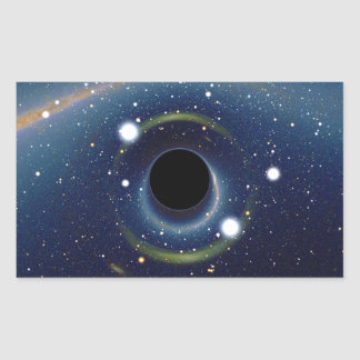 Black hole in front of the Large Magellanic Cloud Sticker