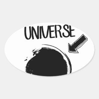 Black Hole Oval Sticker