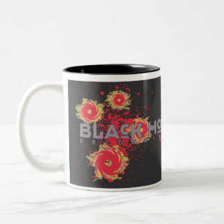 "Black Hole Recordings ""Fire"" Black Two-Tone Coffee Mug"