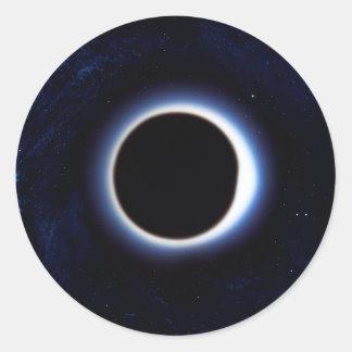 Black Hole Round Sticker