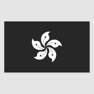 Black Hong Kong Orchid Flower Regional Flag Sticker