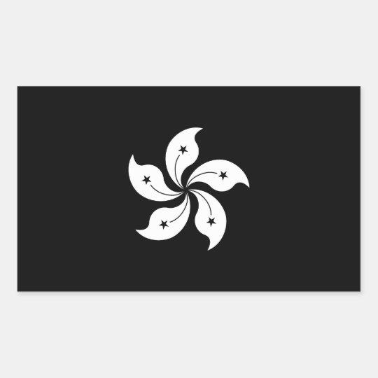 Black Hong Kong Orchid Flower Regional Flag Sticker