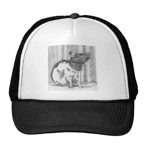 Black Hooded Fancy Rat Trucker Hats