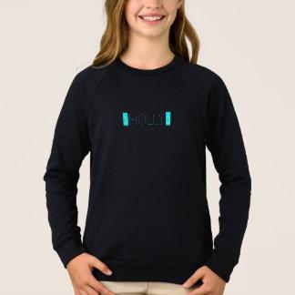 Black hooded sweat shirt with turquoise Xmas tree