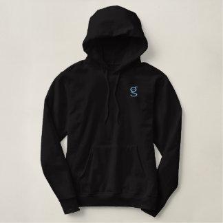Black Hoodie w Light Blue Embroidered I'm G Logo