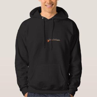 Black Hoodie w/ Wood Surfboard Logos