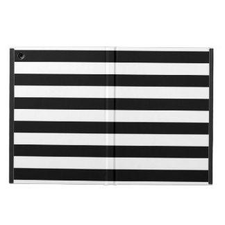 Black Horizontal Stripes iPad Air Cover