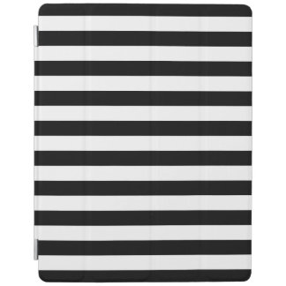 Black Horizontal Stripes iPad Cover