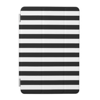Black Horizontal Stripes iPad Mini Cover