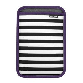 Black Horizontal Stripes iPad Mini Sleeve