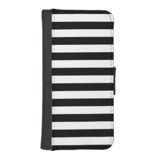 Black Horizontal Stripes iPhone SE/5/5s Wallet Case