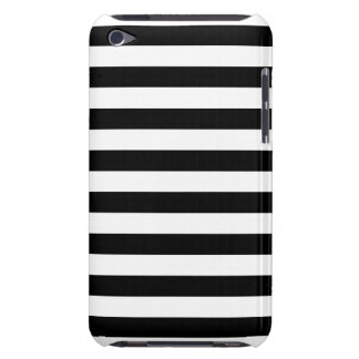 Black Horizontal Stripes iPod Case-Mate Case