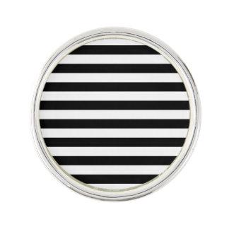 Black Horizontal Stripes Lapel Pin