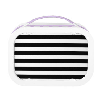 Black Horizontal Stripes Lunch Box