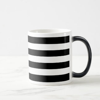 Black Horizontal Stripes Magic Mug