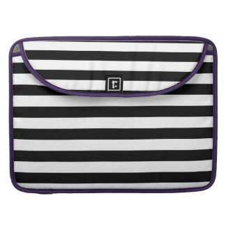 Black Horizontal Stripes Sleeve For MacBook Pro