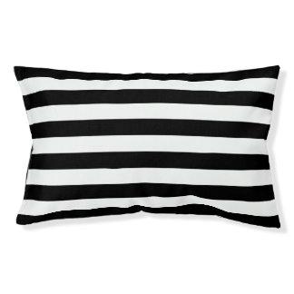 Black Horizontal Stripes Small Dog Bed
