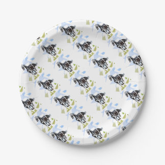 Black horse 7 inch paper plate