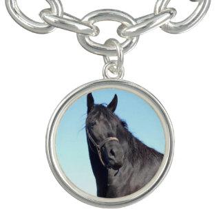 Black Horse And The Blue Sky Charm Bracelet