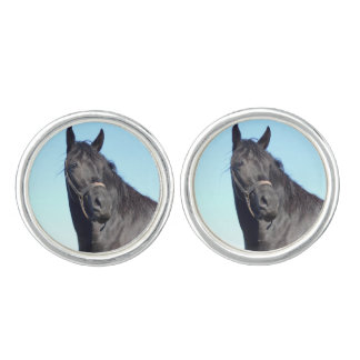 Black Horse And The Blue Sky Cufflinks