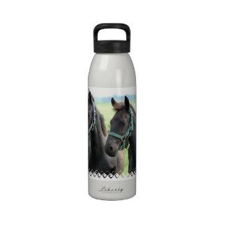 Black Horse Design Water Bottle