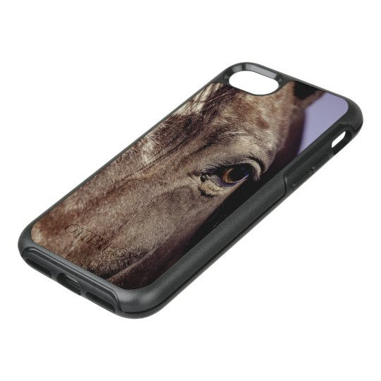 Black Horse Face with Eye OtterBox Symmetry iPhone 7 Case