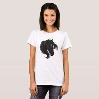 Black Horse Head T-Shirt