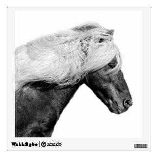 Black horse stallion photography black and white wall sticker