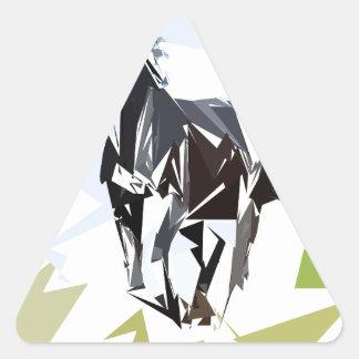 Black horse triangle sticker