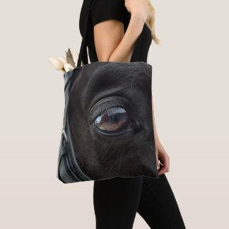 Black Horse's Eye Tote Bag