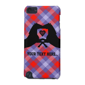 Black Horses on Plaid ipod 5g Case