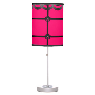 black hot pink decorative lamp shade