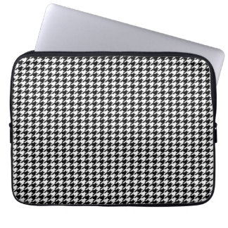 Black Houndstooth Laptop Sleeve
