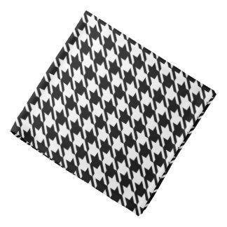 Black Houndstooth Pattern Bandana