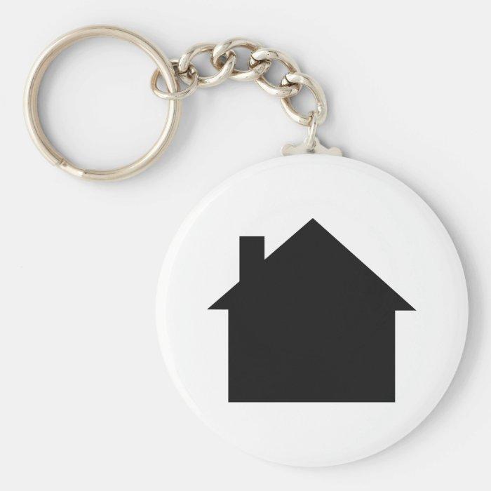black house icon basic round button keychain