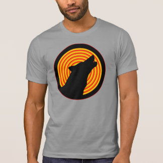 BLACK HOWLING WOLF SILHOUETTE T-Shirt