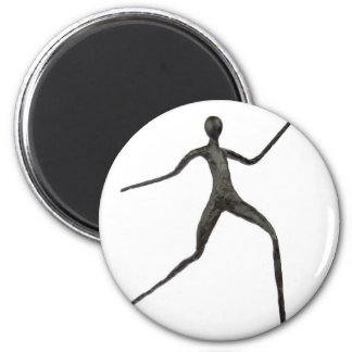 Black human wax model on white background 2 inch round magnet