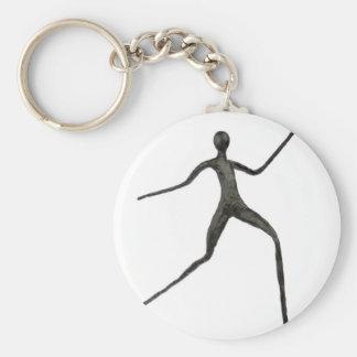 Black human wax model on white background basic round button keychain