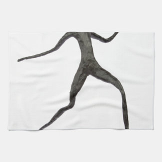 Black human wax model on white background kitchen towels