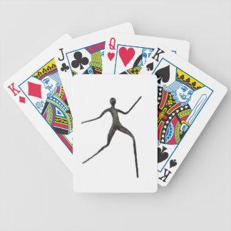 Black human wax model on white background poker deck